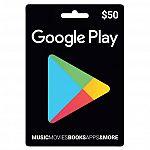$50 Google Play Gift Card $42