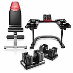 Bowflex SelectTech 560, Bench, and Stand Bundle $599