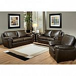 Mavin Top-Grain Leather Sofa, Loveseat and Armchair Set  by Abbyson Living $1,499 (save $1,130)