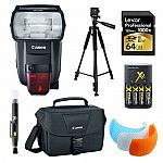Canon 600EX II-RT Speedlite Flash, 64GB Card, Bag, and Accessories Bundle $479