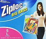 5-ct Large Size of Ziploc Big Bag Double Zipper $3.25