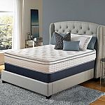Serta Perfect Sleeper Woodbriar II Cushion Firm Eurotop Queen Mattress Set $398 (save $300)