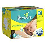 Pampers Swaddlers Newborn Diapers Size 1, 216 Count $23.59