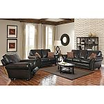 3-Pc Melrose Leather Sofa, Loveseat and Pushback Recliner $1699 (was $2610)