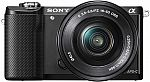Sony Alpha a5000 Mirrorless Camera w/16-50mm Retractable Lens $275