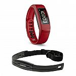 Garmin Vivofit 2 Bluetooth Fitness Band Bundle with Heart Rate Monitor (Red) $60