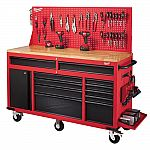 "Milwaukee 60"" 11-Drawer and 1-Door 22"" D Mobile Workbench $598"