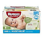 648-count Huggies Natural Care Baby Wipes, Refill $10.53