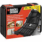 BLACK+DECKER 129-pc Drilling and Driving Home Essentials Set $20