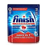 74-Tablets Finish Max In 1 Powerball Dishwasher Detergent $7.79