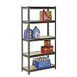 "Muscle Rack 5-Level Heavy-Duty Steel Shelving (30""W x 12""D x 60""H) $35"