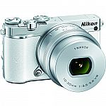 Nikon 1 J5 Mirrorless 20.8MP Digital Camera w/ 10-30mm Lens White Factory Refurbished $397