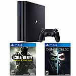 PS4 Pro 1TB console + Call of Duty: Infinite Warfare + Dishonored 2 $400