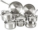 13-Piece Lagostina Tri-Ply Stainless Steel Cookware Set $127