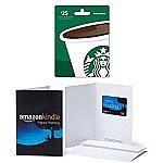 $25 Starbucks Gift Card and $25 Amazon.com Kindle Gift Card $41