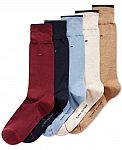 5 Pk Tommy Hilfiger Dress Socks $6.74 and more