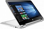 "HP Pavilion x360 2-in-1 13.3"" Touch-Screen Laptop (i3-6100U 6GB 500GB) $400"