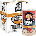 Quaker Oats Old Fashioned Oatmeal, Breakfast Cereal, 128 Ounces $6 + Free Shipping