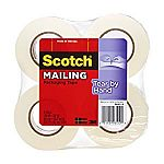 4-Pack of Scotch Tear-by-Hand Tape (1.88 Inches x 50 Yards) $7