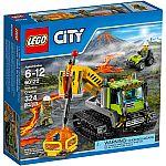 LEGO City Volcano Explorers Volcano Crawler Building Set, 60122 $20