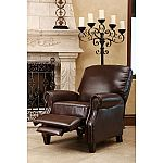 Braxton Leather Pushback Recliner  by Abbyson Living $269 (Save $179)