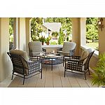 Hampton Bay Lynnfield 5-Piece Patio Conversation Set $399 (org $599)