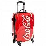 """Coca-Cola 21"""" Hard Case Spinner Luggage $50"""