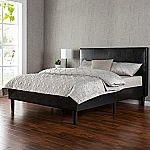 Zinus Deluxe Faux Leather Platform Bed King $179 & More