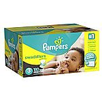 Pampers Swaddlers Diapers Size 3, 180 Count $26.31 w/Amazon Family @20% off