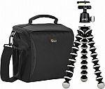 Lowepro/Joby Format 160 Camera Bag & GorillaPod Tripod $40