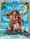 Moana Blu-ray+DVD+Digital HD Combo $20