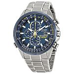 "Citizen Men's AT8020-54L ""Blue Angels"" Stainless Steel Eco-Drive Dress Watch $229"