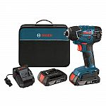 Bosch 18 Volt Lithium-Ion Cordless Electric 1/4 in. Variable Speed Impact Driver Kit with (2) 2.0 Ah Batteries $119 (Save $60)