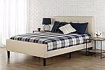 Zinus Upholstered Button Tufted Platform Bed w/Footboard, King $169
