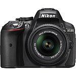 Nikon D5300 DX-Format DSLR Camera w/ 18-55mm DX VR II Lens (NEW) $460