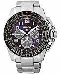 Seiko Men's Chronograph Solar Stainless Steel Bracelet Watch 44mm SSC275 $217 (Was $515)