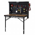 Lifetime Wall-Mounted Work Table (47L x 31D x 60.5-71.5H) $179 (Save $121)