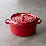 Staub Cast-Iron Dutch Oven, 4-Qt (Red) $100