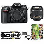 Nikon D7200 DX 24.2MP Digital SLR Camera with 18-55mm VR II - Manufacturer Refurbished $719