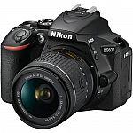Nikon D5600 Digital SLR Camera + Nikkor 18-55mm VR AF-P Zoom Lens Kit $585