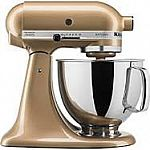 KitchenAid® Artisan® Gold Shimmer 5-qt. Stand Mixer $199.97 + FREE Food Grinder ($64.99 Value)