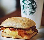 Starbucks Grande Brewed Coffee + Breakfast Sandwich $5