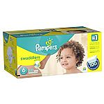 Pampers Swaddlers Diapers Size 6 (100 Count) $17.48, Size 4 (164-Ct) $21.12