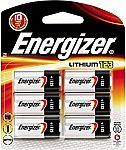 6-count Energizer 123 Lithium Battery $4