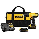 DeWalt 20V MAX Lithium Ion Compact Drill/Driver Kit ($100 + $73 Back in Points)