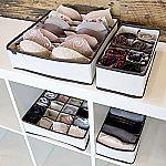 Set of 4 Domestic Corner - Drawer Dividers Closet Organizers Storage Boxes $8.37