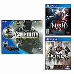 PlayStation 4 Slim 500GB Console Bundle Call of Duty + PS4 NIOH + PS4 For Honor $300