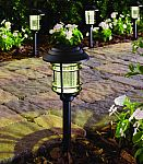 6-Pack Hampton Bay Black and Bronze Solar LED Pathway Outdoor Light $9.60