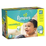 For Prime Members w/Amazon Family: Pampers Swaddlers Diapers Size 4, 164 Count $17.11 (Prime required)