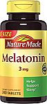 Nature Made Melatonin Tablets 240 Count $1.48